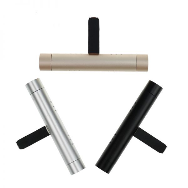 Aluminum housing car air vent perfume diffuser with refill stick